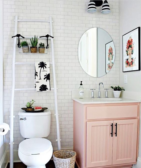 How dreamy is this Powder Room from Our Fifth House??