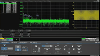 Resolution bandwidth affects horizontal timebase