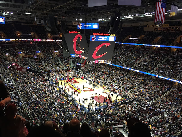 Venture & Roam: The Cleveland Cavaliers, Cavs Game, Quicken Loans Arena