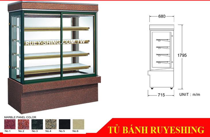 Tủ bánh vuông 5 tầng Đài Loan Ruye Shing RS-C1004S, RS-C1005S, RS-C1006S