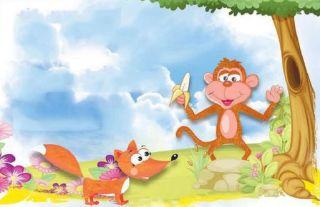 fabula: La zorra y el mono disputando su nobleza