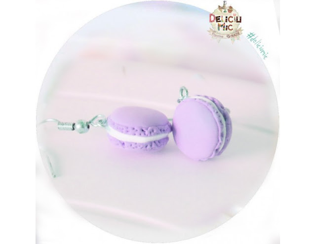 cercei macarons mov lila violet
