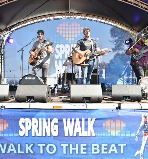 Rubber Duc performing their hit songs live for the #SpringWalk crowd