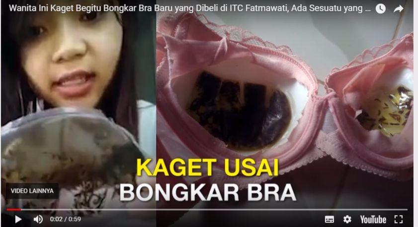 Hasil gambar untuk Wanita Cantik Ini Bongkar Bra Merah Jambu