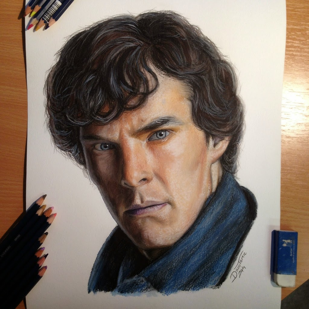 23-Sherlock-Benedict-Cumberbatch-Dino-Tomic-AtomiccircuS-Mastering-Art-in-Eclectic-Drawings-www-designstack-co