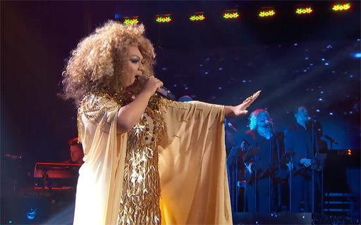 "Ada Vox, the drag persona of Adam Sanders, was eliminated on American Idol after singing a strong ""Circle of Life"" from THE LION KING"