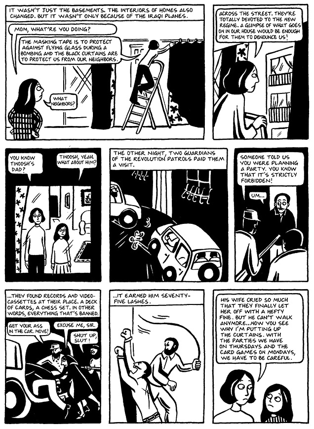 Read Chapter 14 - The Wine, page 103, from Marjane Satrapi's Persepolis 1 - The Story of a Childhood