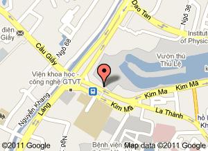 Mapa Parque Thu Le. Hanoi