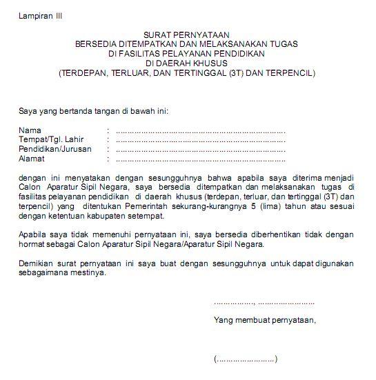 Contoh Surat Pernyataan Kesanggupan Menyelesaikan ...