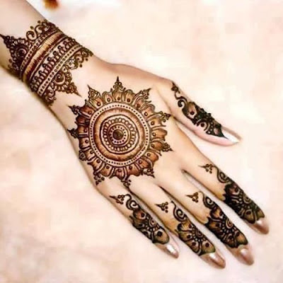 Back Hand Flower Mehndi Designs