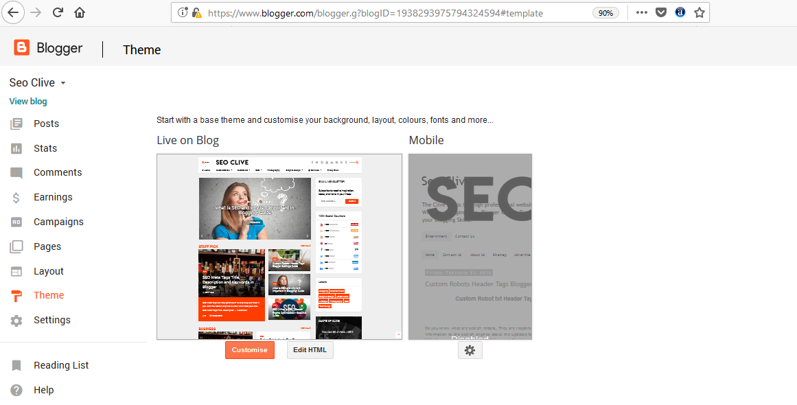 SEO Meta Tags Title, Description and Keywords in Blogger