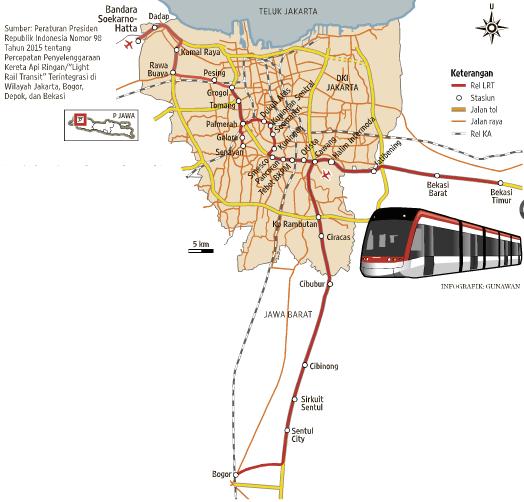 Inilah Peta Jalur Dan Stasiun Kereta Api Ringan Lrt Bogor Cibubur