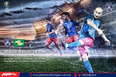 Live Streaming JDT FC vs Song Lam Nghe An Piala AFC 2018 24 April 2018