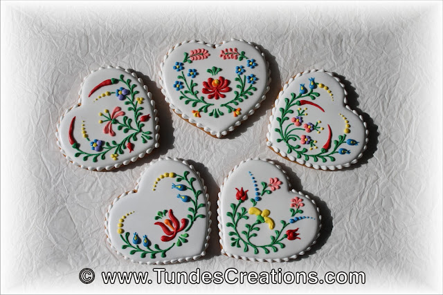 Hungarian folk art cookies by Tunde Dugantsi