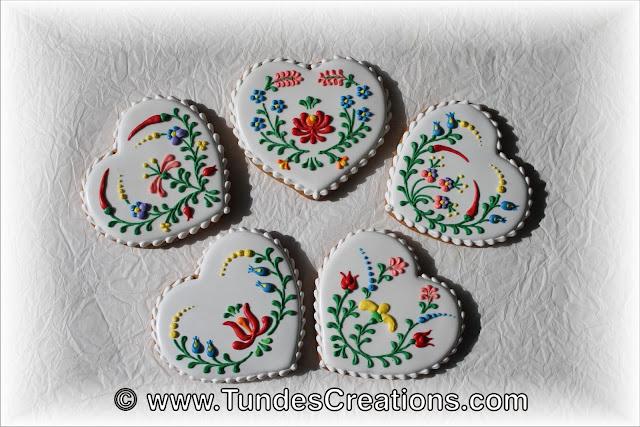 Hungarian folk art cookies by Tunde Dugantsi