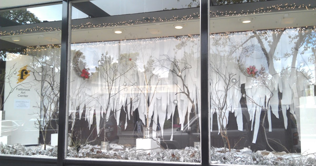 Refurbished Rubbish Fallbrook Art Center Winter Window