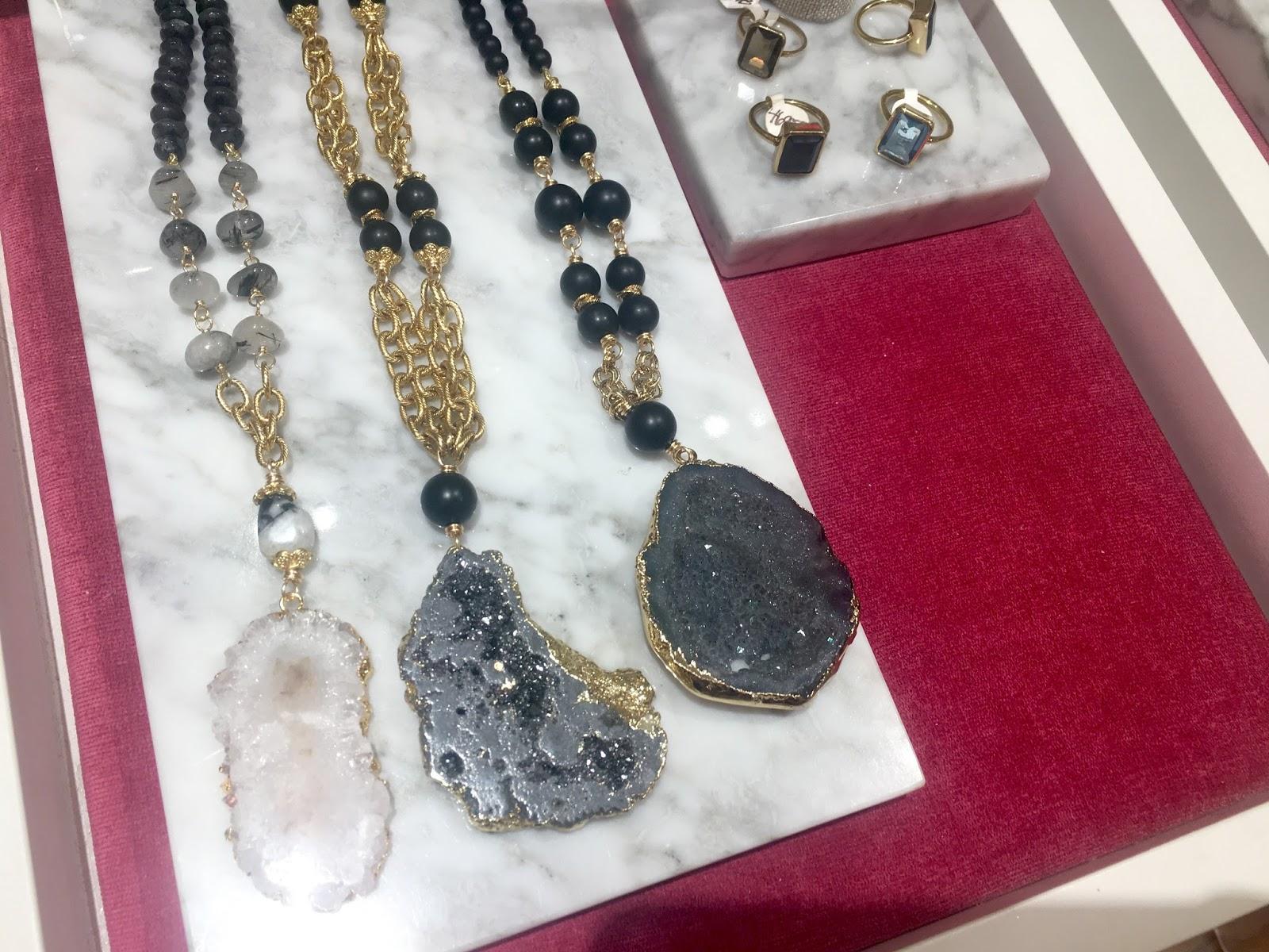 Stone beaded necklaces
