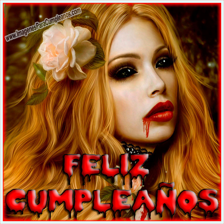 Vampiresa Feliz Cumpleaños