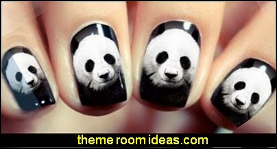 bear animal Decal nail Wraps Water Transfer Nail Sticker