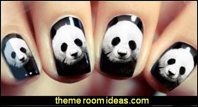 bear animal Decal nail Wraps Water Transfer Nail Sticker