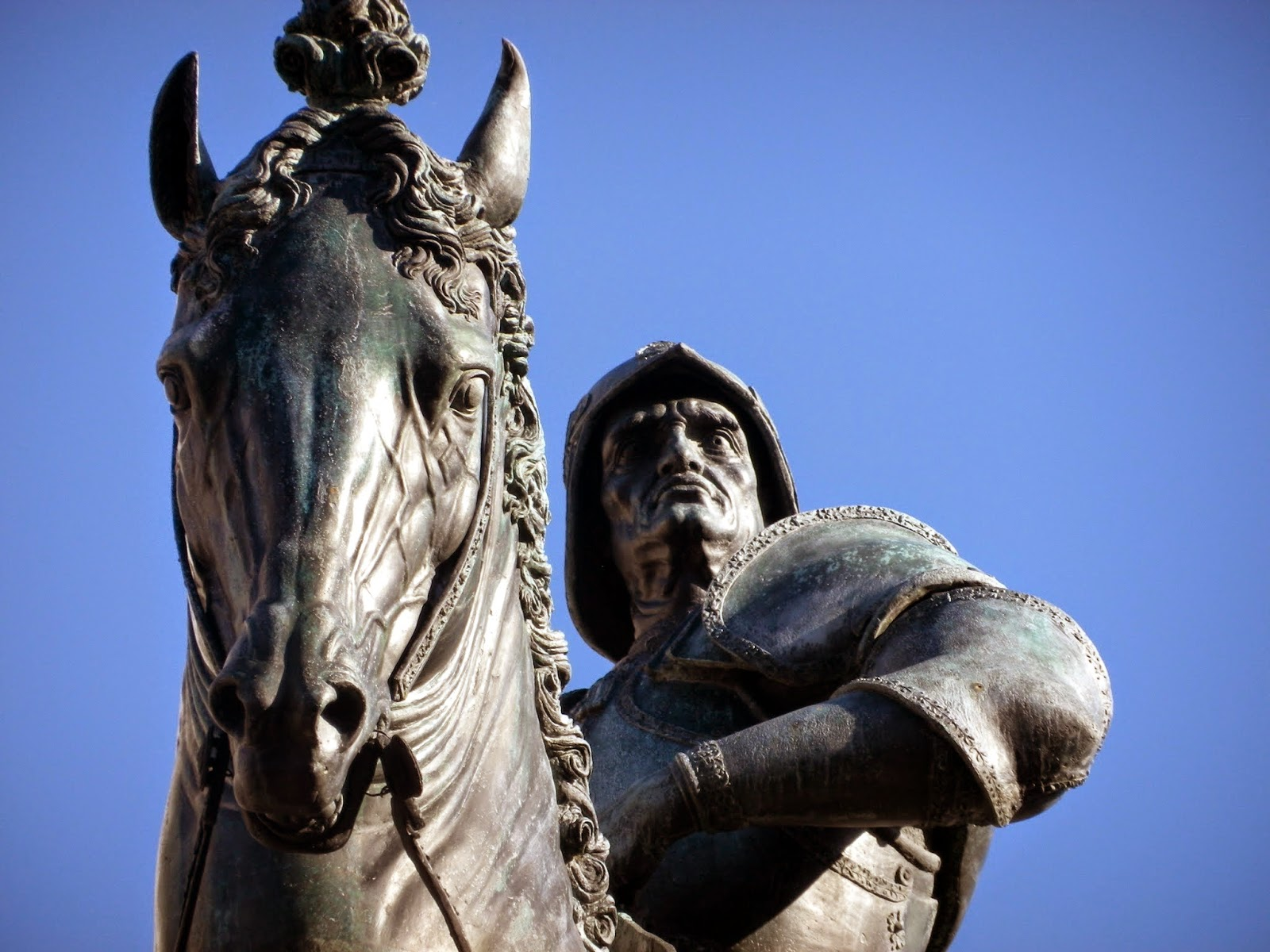 The equestrian statue of Bartolomeo Colleoni, by Verrocchio and Leopardi, Venice