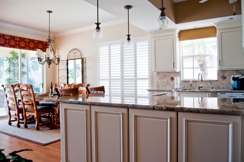 High hat lighting and Hinkley Plantation Pendant Lighting added by Ron Herman Electric. & Cabinet Cottage - Kitchen And Bath Studio serving Stuart Hobe Sound ...