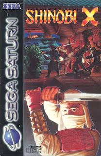 Portada del Cd con el videojuego Shinobi X, Shinobi Legions, Sega Saturn, 1995