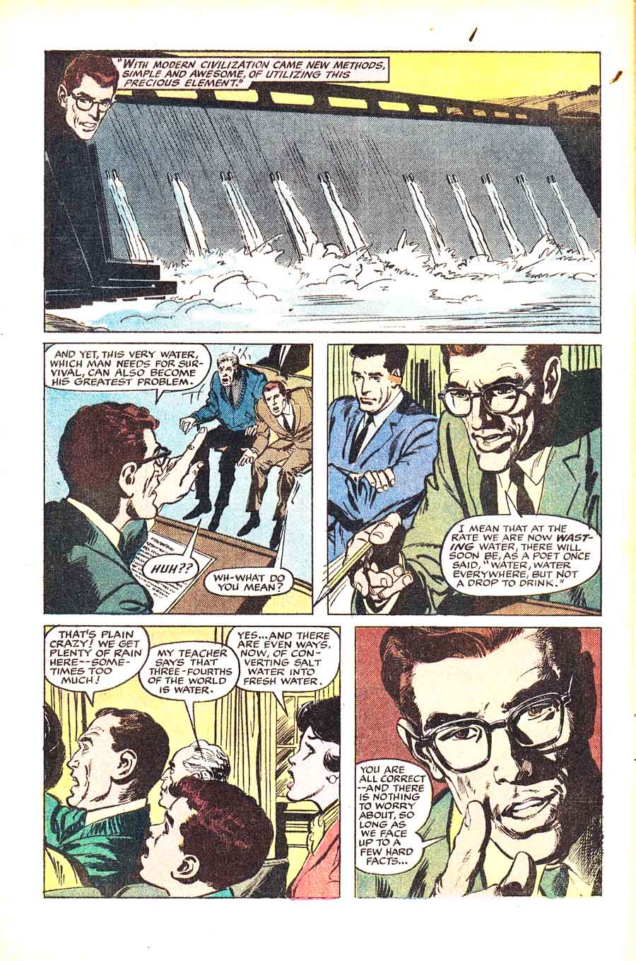 Neal Adams page - Case of the Wasted Water 1960s giveaway comic book