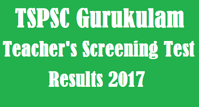 TS State, TS Recruitment, TSPSC, TS Results, TS Gurukulam, Results, Telangana Gurukulam Result