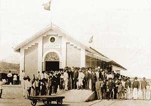 Inauguração da Estação de Cangaty em 8 de dezembro de 1890 (atual Caio  Prado). Arquivo Diário do Nordeste 64d459895d