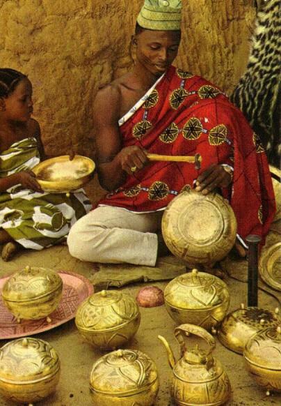 Niger state, Bida famous golden beads making people