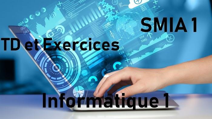 TD et Exercices Informatique 1 smia s1 pdf