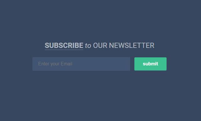 Cara Membuat Kotak Subscribe Keren dan Responsive di Bawah Footer Blog