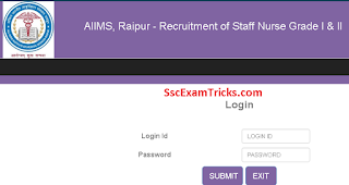 AIIMS Raipur Staff Nurse Call Letter 2017
