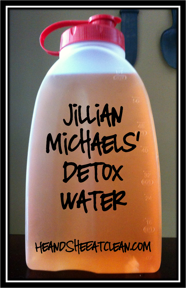 Jillian Michaels' detox water, cranberry juice