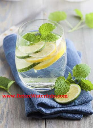 lemon and mint detox water recipe for weight loss