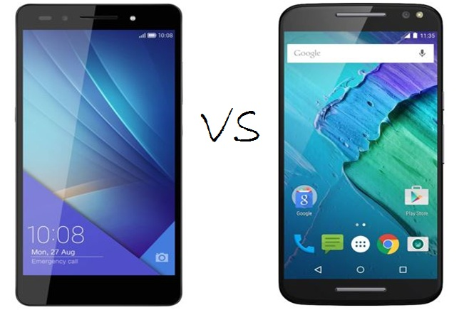 Huawei Honor 7 vs Motorola Moto X Style: comparison of high-end Android offerings
