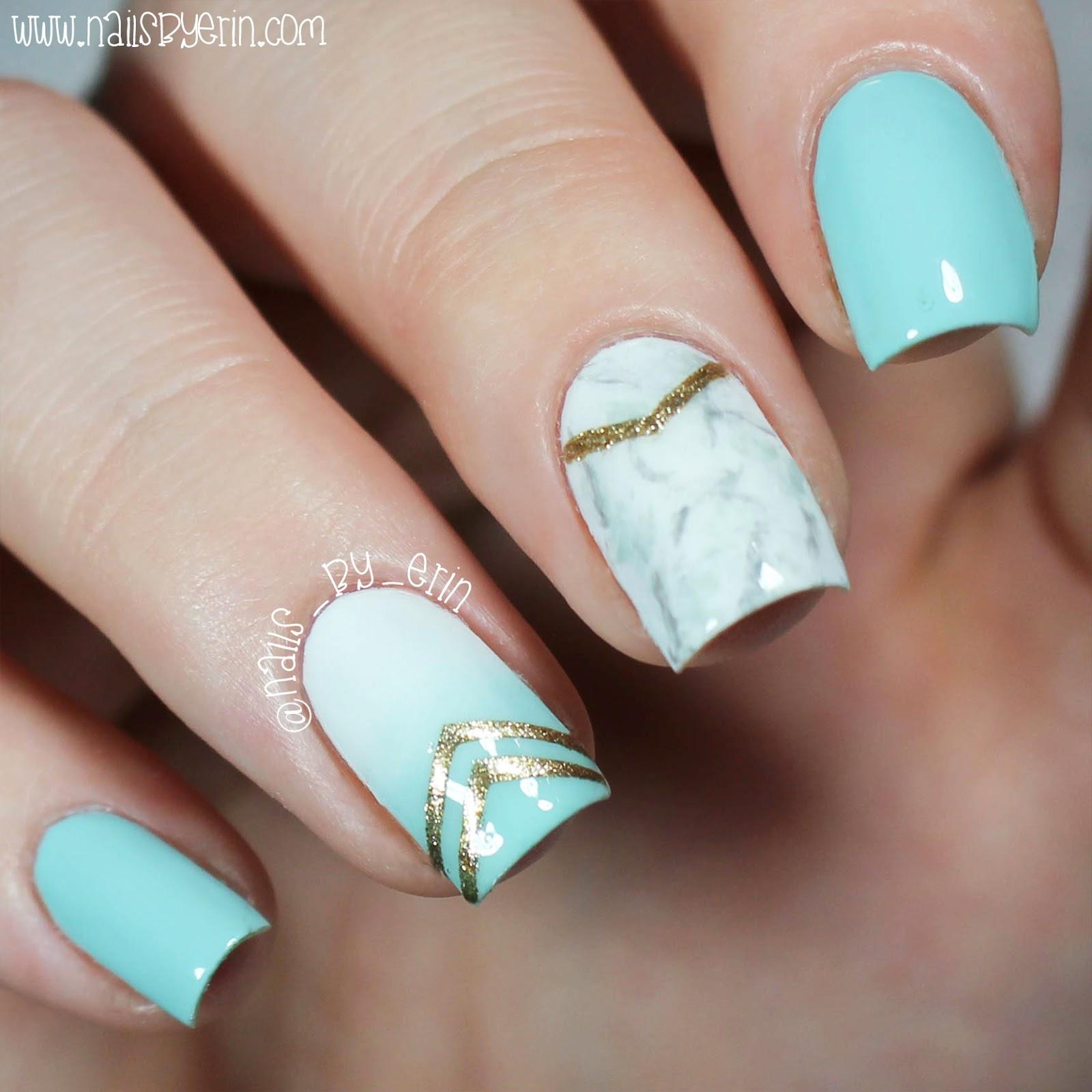NailsByErin: Marble Effect Nails