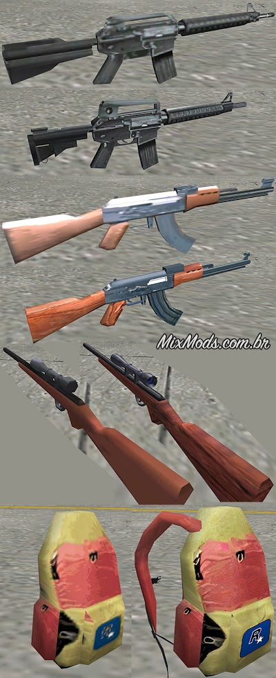 gta sa mod improved remastered weapons hd upscale