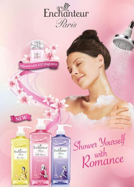 wangian dan wanita, gel mandian wangi, enchanteur paris, harga produk enchanteur paris