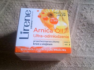 1914. Lirene Arnica Oil ultra odmłodzenie przeciwzmarszczkowy krem z olejkiem