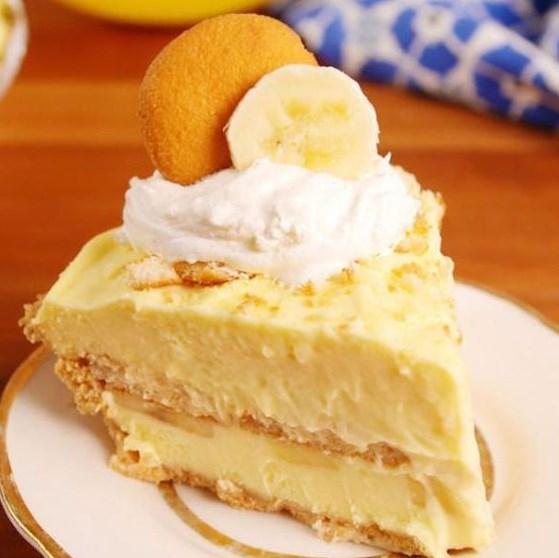 Banana Pudding Cheesecake #Dessert #Cake