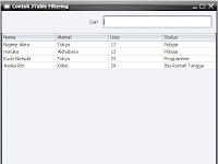 Contoh Membuat Filtering JTable pada Java Swing
