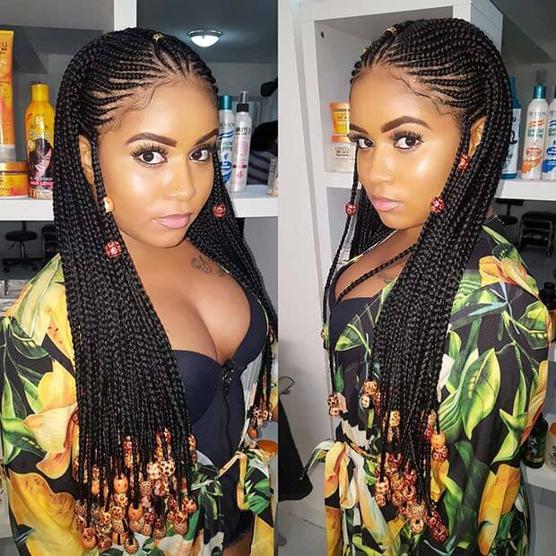 27 Best Fulani Two Braids Hairstyles To Copy This Summer