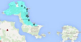 Jangkauan Sinyal Smartfren 4G LTE dan EVDO REV B Bangka Belitung