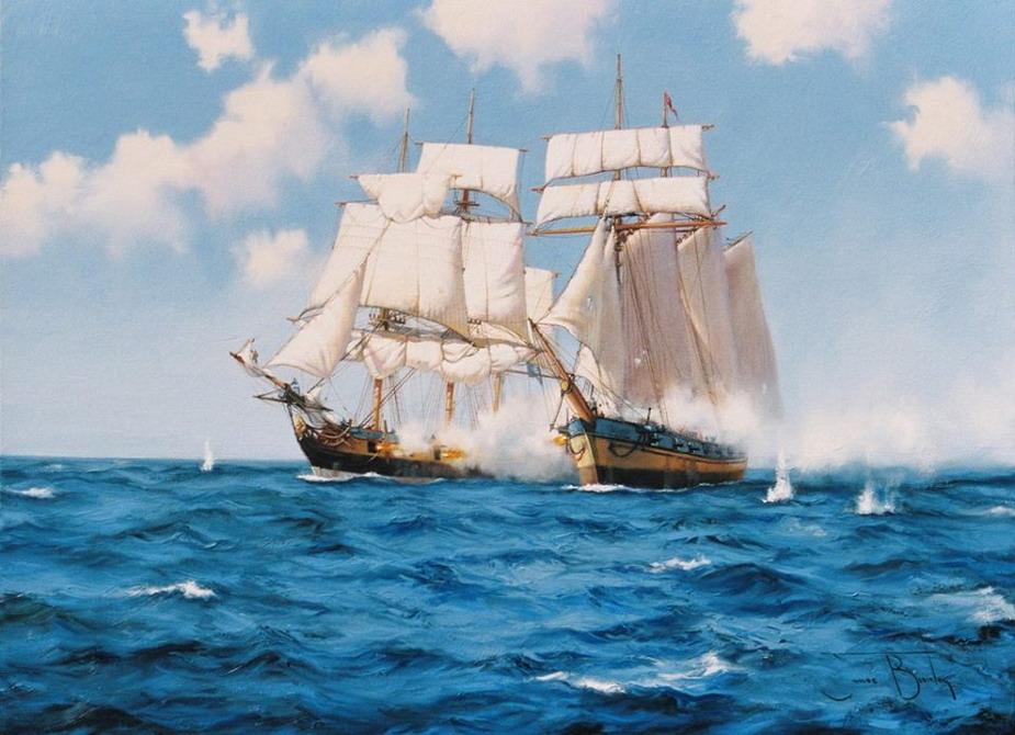 Море с кораблем фото