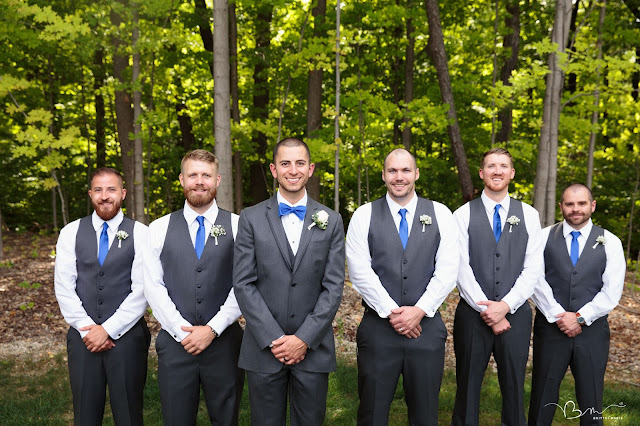 groomsmen at Noah's Event Venue in Auburn Hills Michigan