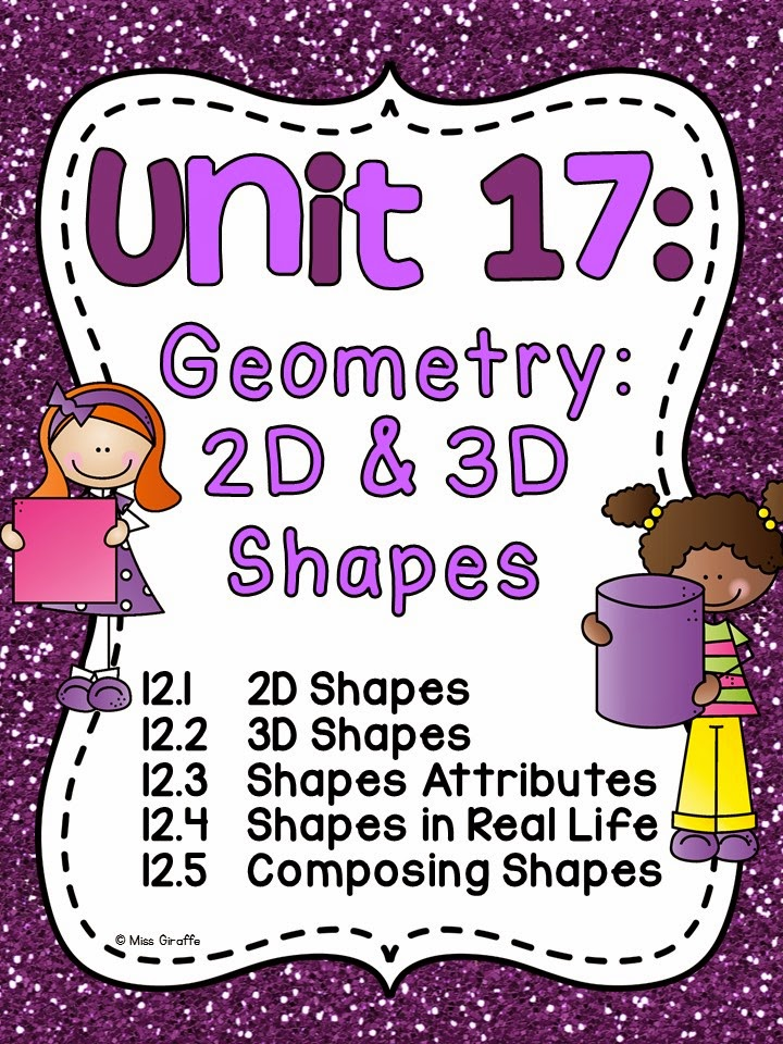 Geometry 2D and 3D shapes worksheets games and activities that are so much fun and differentiated for first grade including composing shapes