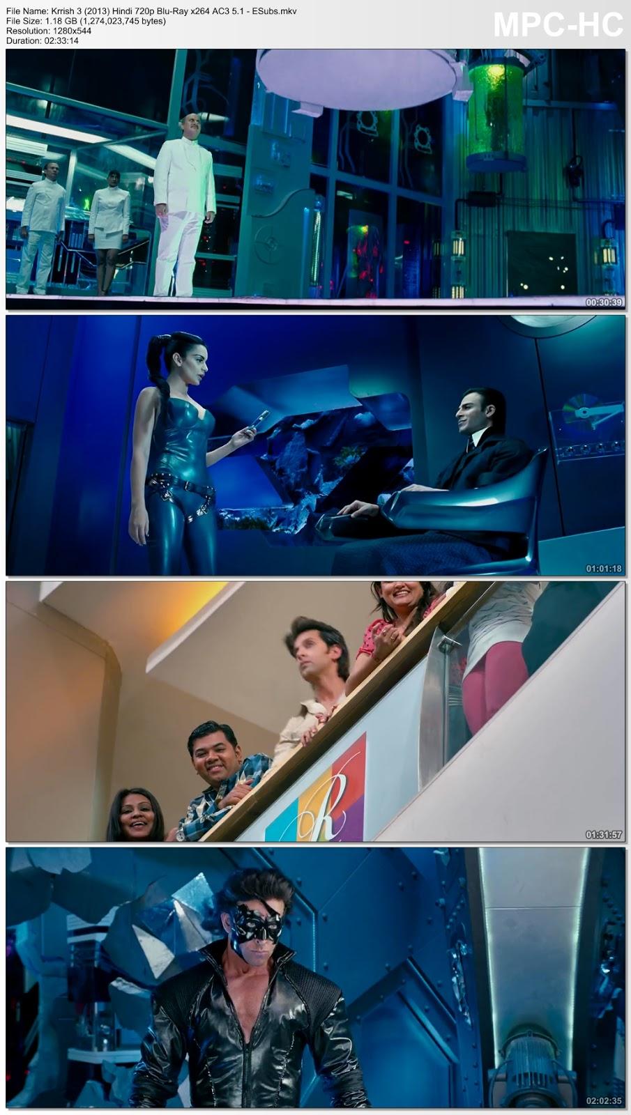 Krrish 3 (2013) Hindi 720p Blu-Ray x264 AC3 5.1 – ESubs 1.1GB Desirehub