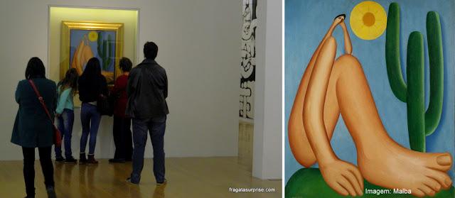 O Abaporu no Museu de Arte Latino-Americana de Buenos Aires - Malba